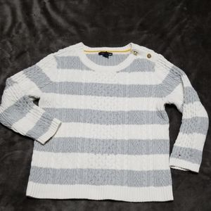TOMMY HILFIGER CABLE KNIT SHORT SWEATER NEW
